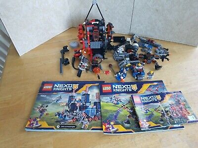 LEGO Nexo Knights Fortrex 70317 and 70316 Parts Lot - Figures, Vehicles, Manuals