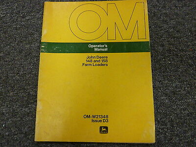 John Deere 148 158 Farm Loader Attachment Owner Operator Manual Omw214348