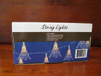 Paris Eiffel Tower String Lights. New in Box. 10 lights. 1 box ()