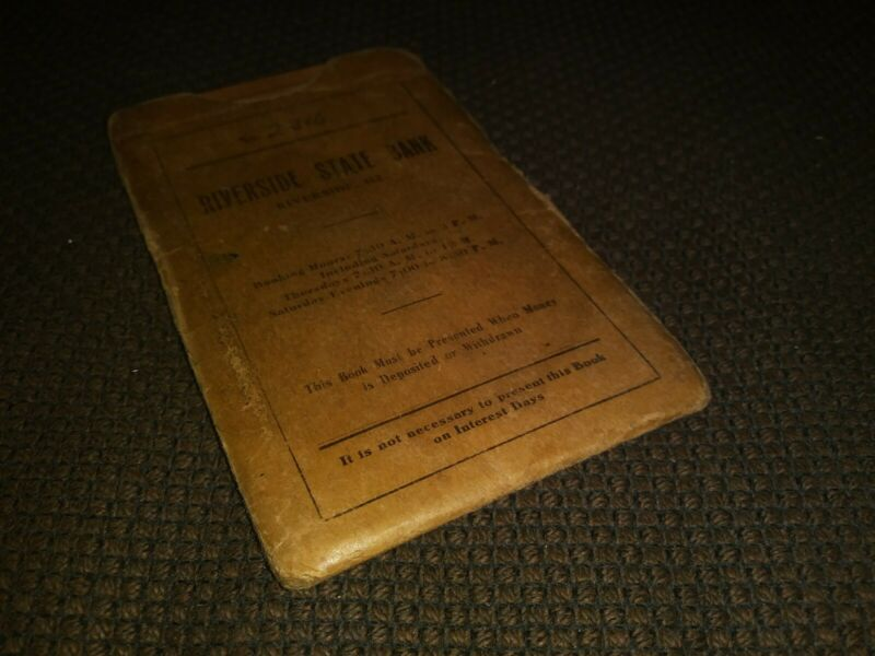 1929 Riverside State Bank Ledger Riverside Illinois