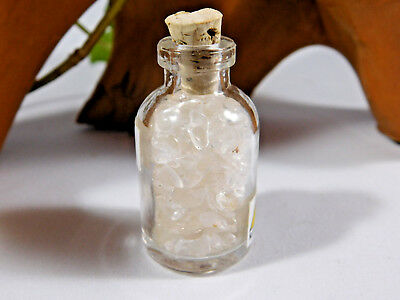 Glass Jar Filled with Clear Quartz Chips, Excellent Gift Idea, Mineral SALE - Jar Gift Ideas