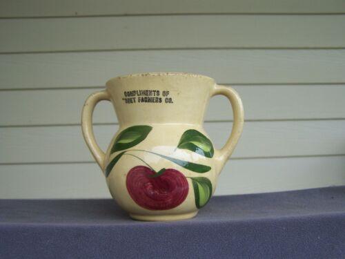 Apple WATT POTTERY Rare Sugar Bowl #98