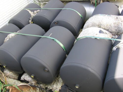 "Compressed air tanks   23"" x 14""  (14.96 gallons)   150 psi"
