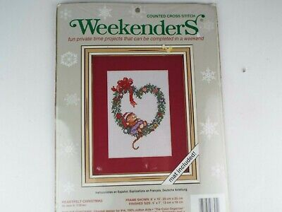Weekenders Heartfelt Christmas 8x10 Counted Cross Stitch Mat Included