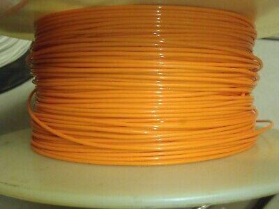 100ft 24ga 24awg Alpha 5874 Silvered Orange Teflon Stranded Wire Mil-w-16878e