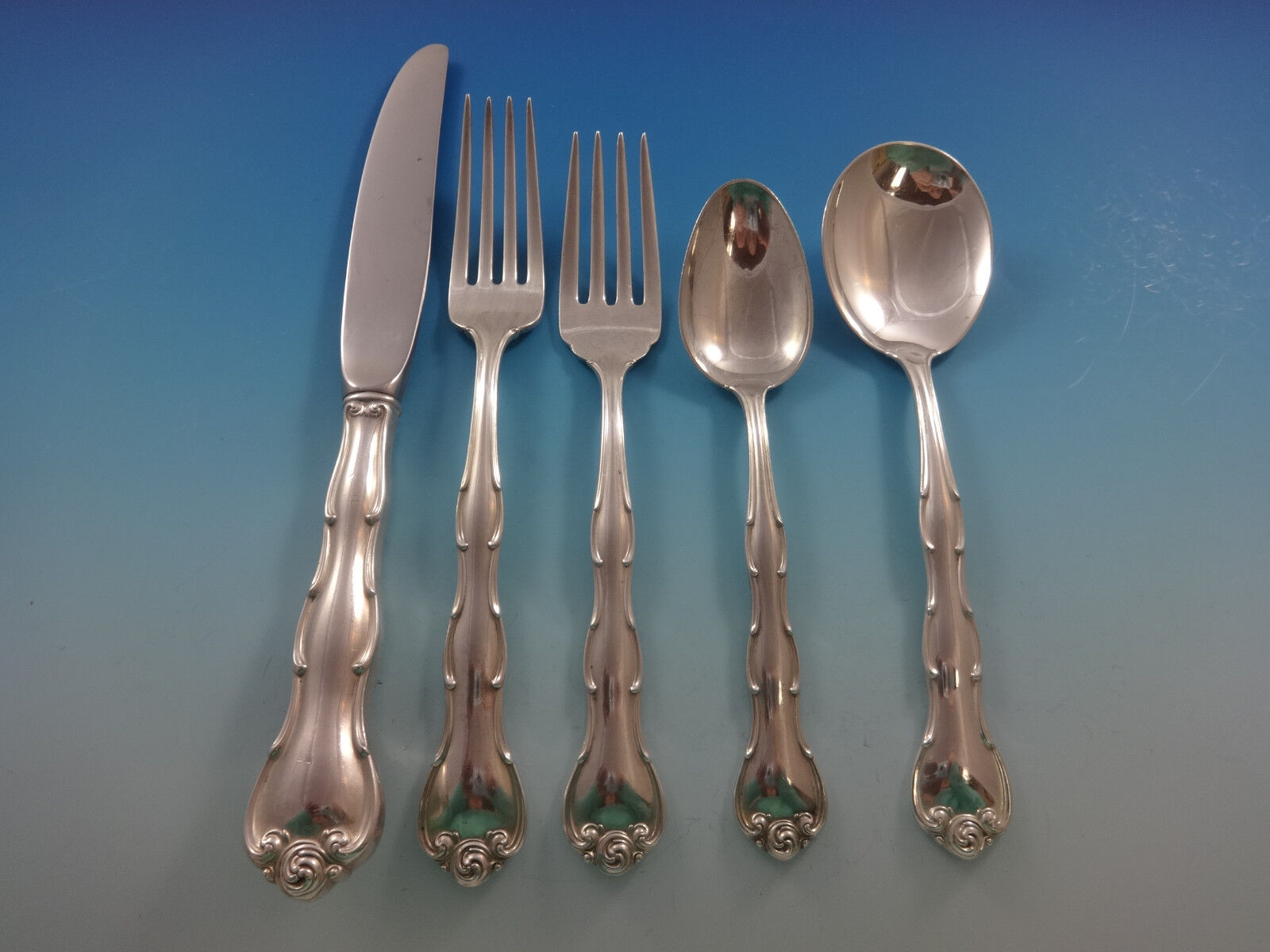 Rondo By Gorham Sterling Silver Flatware Set For 12