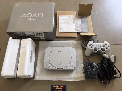 SONY PLAYSTATION PS1 PSONE SLIM CONSOLE BOXED COMPLETE