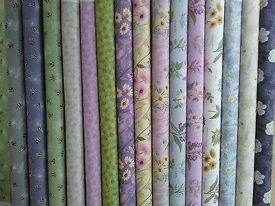 Botanic Garden by Lewis & Irene 100%Cotton Floral Inspired Patchwork Fat Quarter