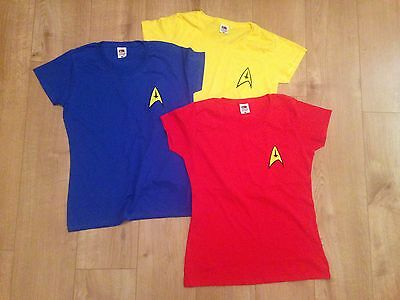 Star Trek Uniform WOMENS T Shirt Captain Kirk Spock Enterprise - Star Trek Shirt Womens