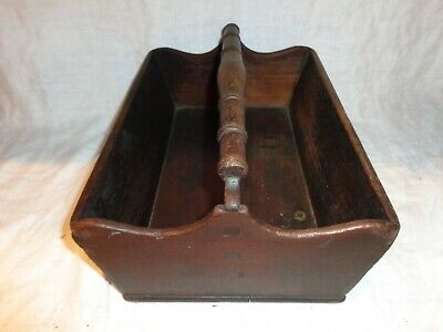 Antique 19th.c Walnut Pennsylvania Two Compartment Utensil Tray Carrier