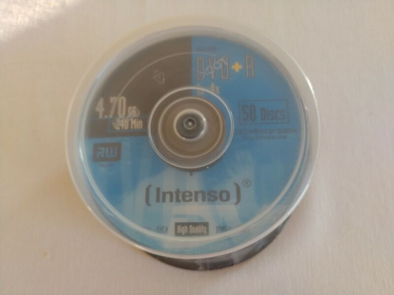 New Sealed Intenso 50 Discs DVD + R 1X-4X 4.7 GB 240 Min