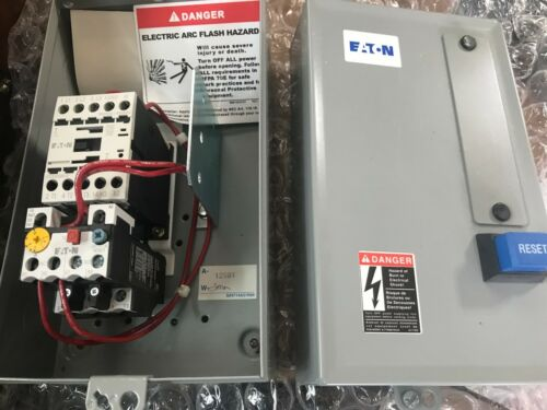 Eaton Cutler Hammer ECX09C1LAA Motor Starter & Enclosure New