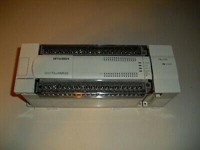 Mitsubishi Melsec Fx2n-64mr-ds W Base Unit Fgx2n-2ad Plc And Mounting Bracket