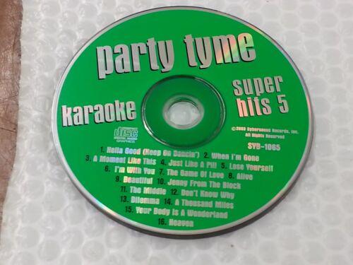 Party Tyme Karaoke Disc SYB-1065 Super Hits 5 CD+G CDG