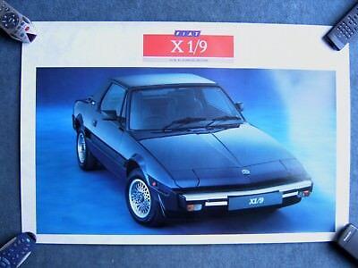 FIAT X1/9 Sales brochure & Dealership Poster 1989 Year Grand Finale Bertone