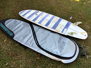 """Rusty Happy shovel surfboard 6'6"""" with cover &legrope. Kuluin Maroochydore Area Preview"""