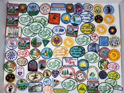 Vintage Lot of Girl Scout Patches from 70