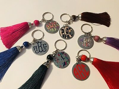 Beaded Keychain (Monogram / Personalized 4