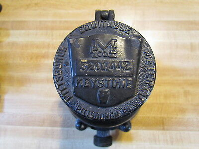 Vintage Pittsburgh Equitable Meter Co. Keystone Solid Brass Water Meter 58 Flow