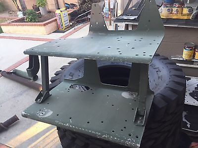 Tall 2 Level Radio Tray Humvee Hummer H1 Raw Unpainted