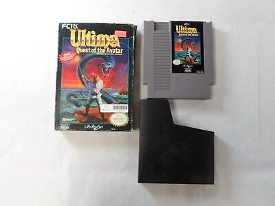 Quest Box (NES Ultima: Quest of the Avatar with box. good)