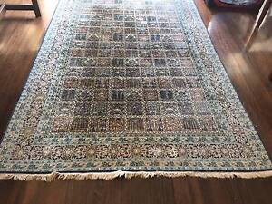 Handmade silk rug made in Kashmir purchased at Hali rugs Sydney Northbridge Willoughby Area Preview
