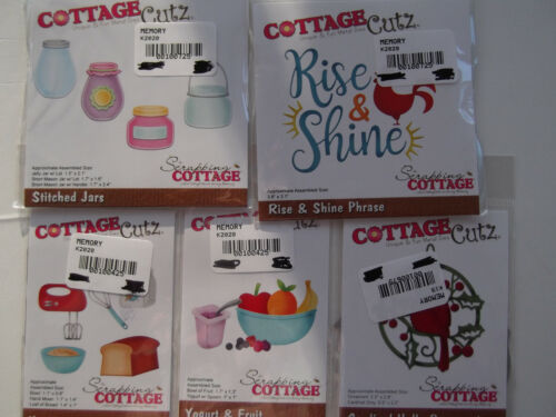 #175 DISCONTINUED 5 SETS COTTAGE CUTZ DIES **CHEAP PRICE LOOK**