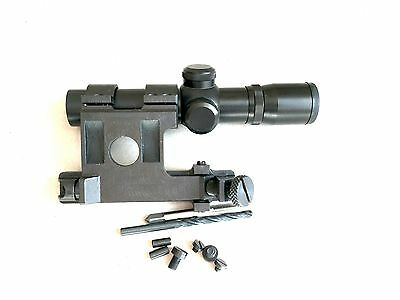 "Soviet Russian Mosin nagant  91/30 PU sniper mount and 1"" scope combo"