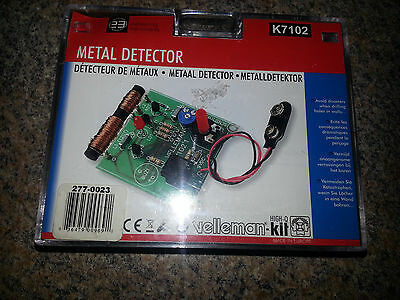 """Velleman Metal Detector K7102 METAL DETECTOR 6.1"""" x 4.92"""" x 1.57"""" NEW"""