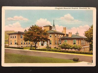 Postcard Clearfield Pa   Clearfield Memorial Hospital