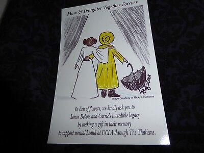 Carrie Fisher   Debbie Reynolds   Postcard   Art