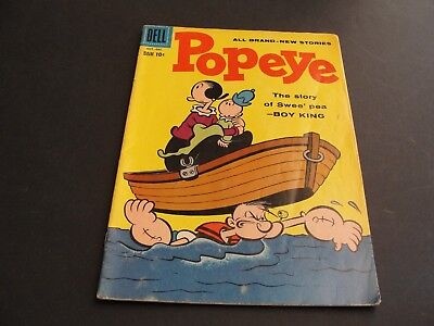 """POPEYE- """"The Swee'pea Story"""" Vol.1 #46 Dell 1958-10 CENT Silver Age -Comic Book."""