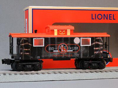 LIONEL ELX HALLOWEEN LIGHTED CABOOSE O GAUGE train pumpkin skeleton 6-84781 NEW (Halloween 6 Ending)