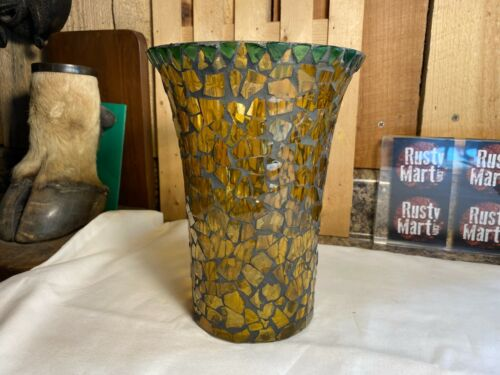 Vintage Stained Glass Tile Candle Holder