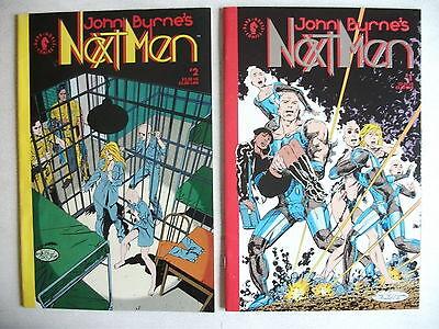 JOHN BYRNE'S NEXT MEN # 1 & # 2 (DARK HORSE COMICS, JAN/MAR 1992), NM