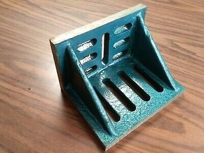 Slotted Angle Plate Webbed 7x5-12x4-12 Tensil Cast Iron Precise Ground Sapw