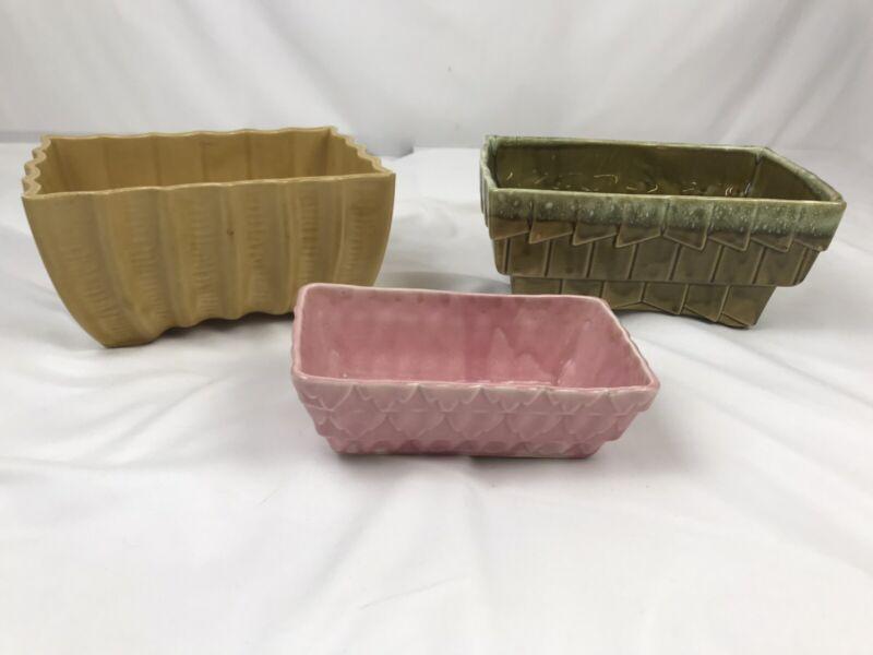 Vintage Cookson Planter Pottery Lot of 3