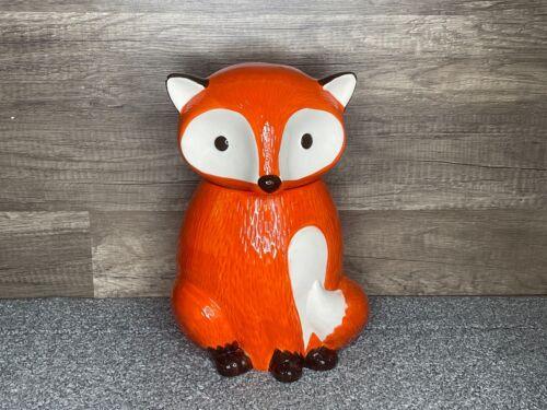 "WORLD MARKET: Fox Cookie Jar, Large 12"" w/ Airtight Lid. Ceramic Figural Animal"
