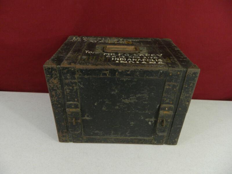 Antique Wood / Metal Medicine Medical Box Prinz Heinrich Armored Cruiser Ship
