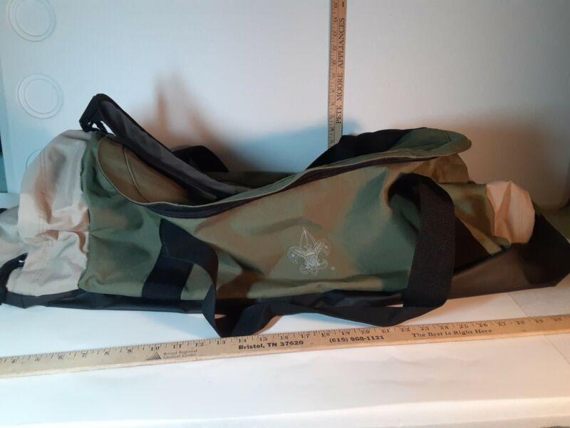 "Official Boy Scouts Of America BSA Green Duffel Bag 25""x12""x12"" Camping Weekend"
