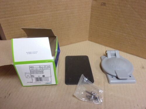 Leviton WP2 Weather Resistant Cover , Gray , new