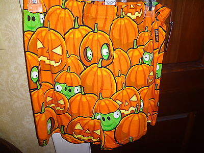 NEW ANGRY BIRDS HALLOWEEN PUMPKIN PIG Boxer Shorts Underwear Men s 28-30 - Angry Birds Halloween Pumpkin