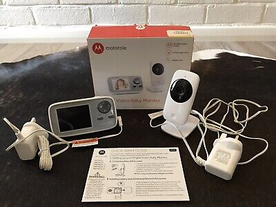 Motorola MBP482XL Digital Video Baby Monitor Used Once