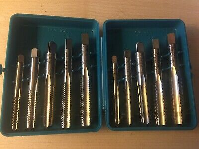 Greenfield Threading 10 Piece Tap Kit 14-12 Finecourse Bottoming Plug
