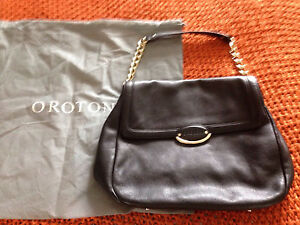 Oroton leather black bag Frenchs Forest Warringah Area Preview