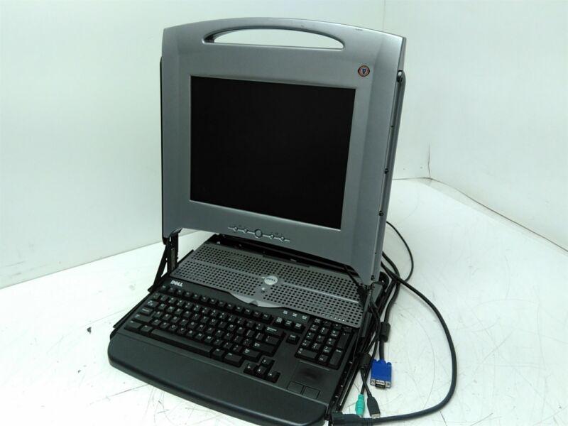 "Dell PowerEdge Rack Console 15FP GK545 15"" LCD Monitor Keyboard Grade B"