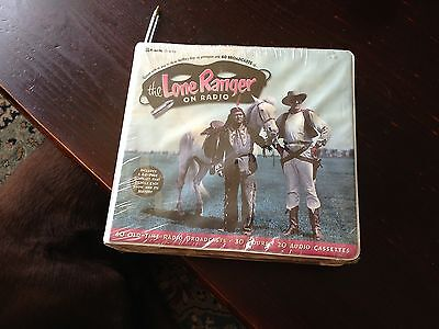 THE LONE RANGER ON RADIO Radio Spirits 2001 20 Audiocassettes -NIB-