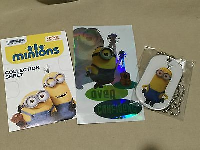 Minions Blind Mystery Pack Collectible Tall Minion Dog Tag Sticker - Collectible Minions