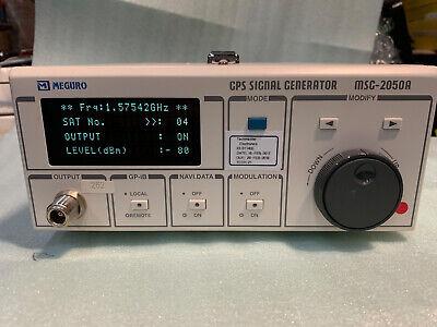 Meguro Keisoku Msg-2050a Gps Signal Generator Opt 100 Mod 102 Rev 100 Anritsu