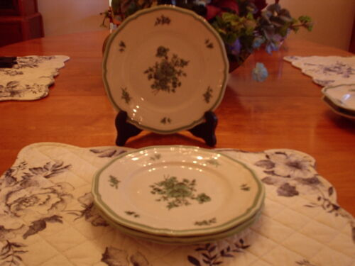 Rosenthal- Green Bloom- Salad Plates- Set of 4